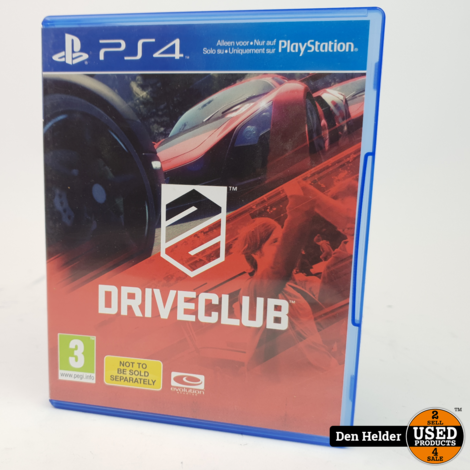 Driveclub PS4 Game - In Prima Staat