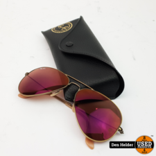 Raybann Raybann RB-3025 Rose Gold Zonnebril - In Prima Staat