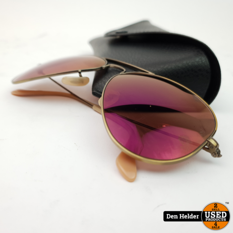 Raybann RB-3025 Rose Gold Zonnebril - In Prima Staat