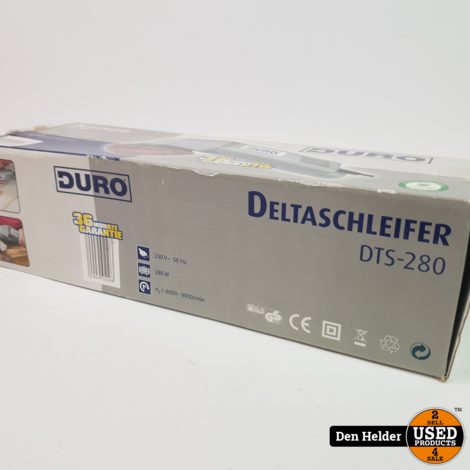 Duro DTS 280 Delta Schuurmachine 280 watt - Nieuw