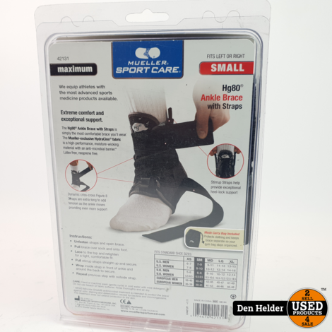 Mueller Hg80 Ankle Brace with Straps - Nieuw