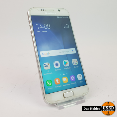 Samsung Galaxy S6 32GB Wit Android 7 - In Goede Staat
