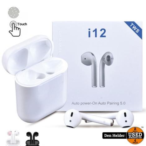 i12 TWS Bluetooth 5.0 Wireless Headset Android IOS - Nieuw