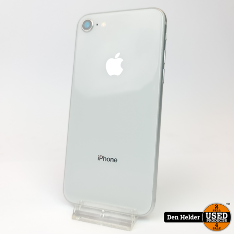 iPhone 8 256GB Silver Accuconditie 100% - In Prima Staat