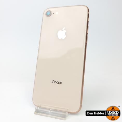 iPhone 8 256GB Gold Accuconditie 100% - In Prima Staat