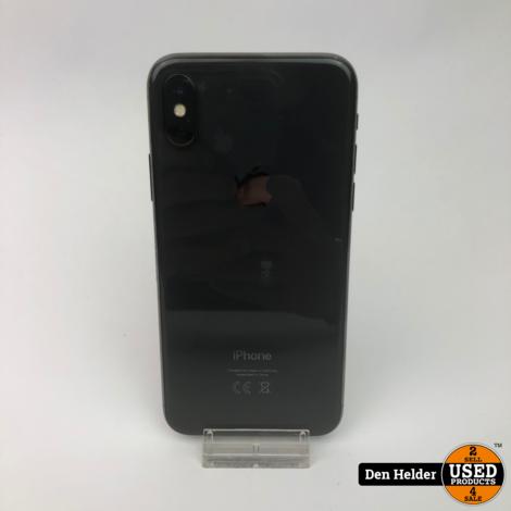 Apple iPhone X 64GB Accu 87% Zwart - In Prima Staat