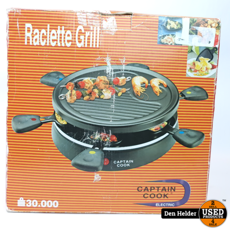 Captain Cook Gourmet Raclette Compact - In Nette Staat