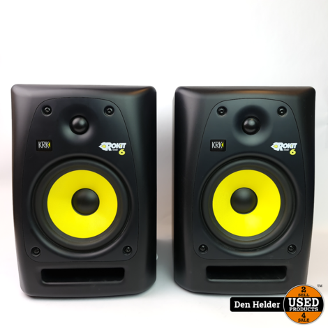 KRK Rokit 6 Actieve Studio Speakers - In Prima Staat