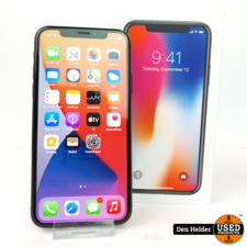 Apple Apple iPhone X 64GB Space Gray Accu 88% - In Nette Staat