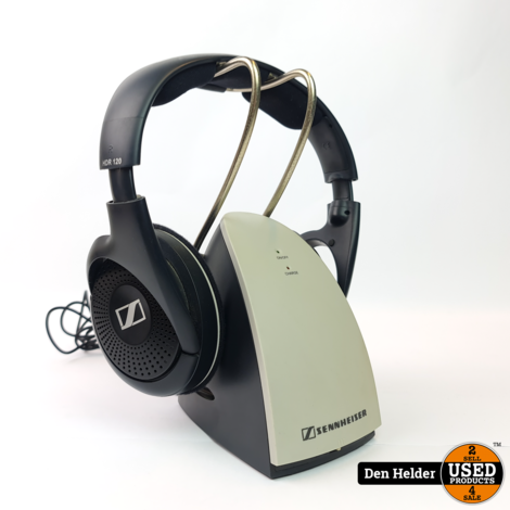 Sennheiser HDR 120 Draadloze Studio Koptelefoon incl. Laadstation - In Nette Staat
