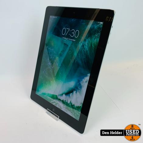 Apple iPad 4 32GB Zwart Wifi + 4G - In Prima Staat