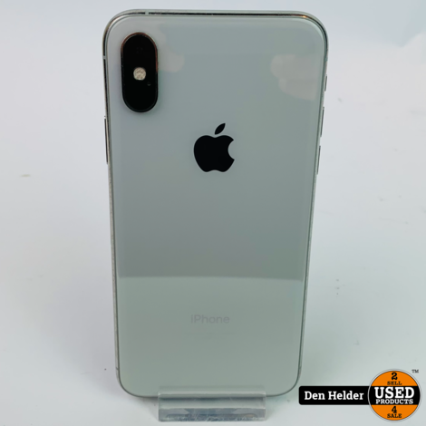 Apple iPhone XS 64GB Silver Accu 86% - In Nette Staat