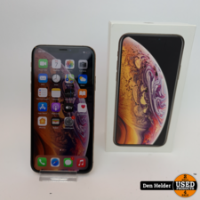 Apple Apple iPhone XS 64GB Accu 86% Gold - In Nette Staat