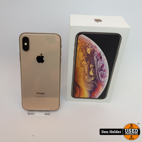 Apple iPhone XS 64GB Accu 86% Gold - In Nette Staat