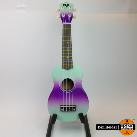 CLXmusic Ukelele (Dual colour mint/ purple) - Nieuw