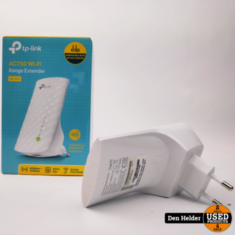 TP-Link AC750 Wifi Range Extender - In Prima Staat