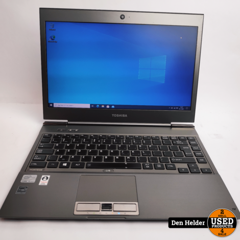 Toshiba Portege Z930-14Z Windows 10 Laptop i5 3e Gen 4GB 256GB SSD - In Prima Staat