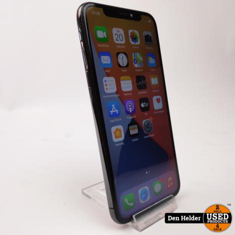 Apple iPhone X 64GB Zwart Accu 82% - In Prima Staat