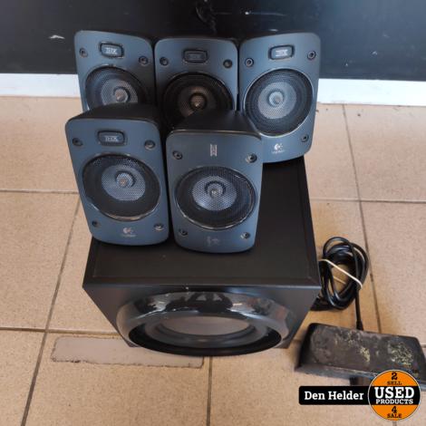 Logitech 5.1 Z906 5.1 Speaker Set incl Afstandsbediening - In Nette Staat