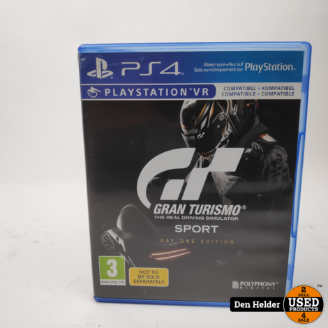 Gran Turismo Sport PS4 Game - In Prima Staat