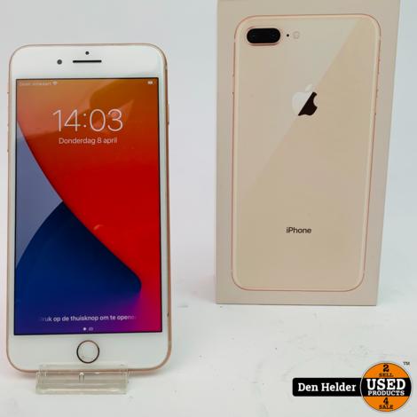 Apple iPhone 8 Plus 64GB Rose Gold Accu 100% - In Prima Staat