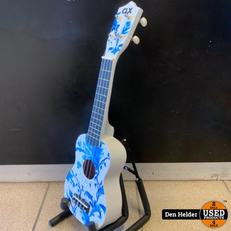 CLXmusic Ukelele (Delft's Blue) - Nieuw