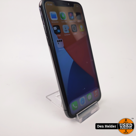 Apple iPhone X 64GB Space Gray Accu 82 - In Nette Staat