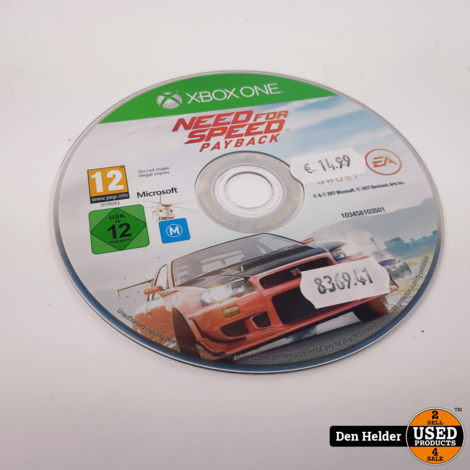 Need for Speed Payback Microsoft Xbox One - In Prima Staat