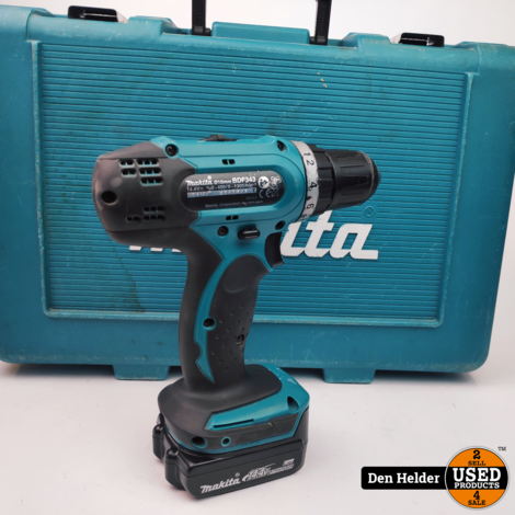 Makita BDF343 14.4V Boormachine - In Goede Staat
