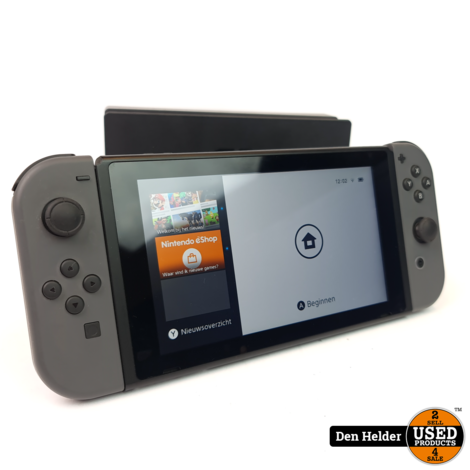 Nintendo Switch 2019 Model Grijs - Zo Goed Als Nieuw