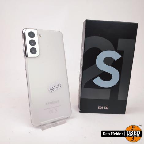 Samsung Galaxy S21 128GB 5G Wit - In Nette Staat