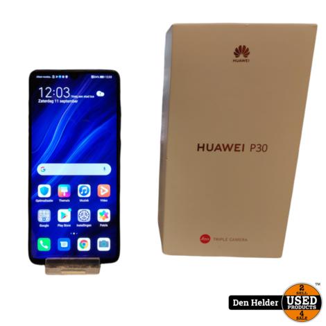 Huawei P30 128GB Zwart - In Prima Staat