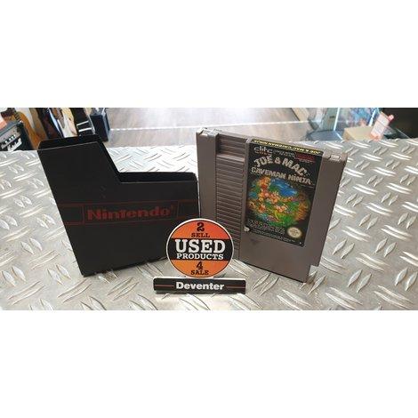 Joe & Mac Caveman Ninja NES cassette