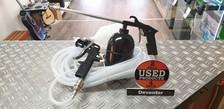 Verfset Perslucht NIEUW 2 x verfpistool met beker/ 7 meter persluchtslang
