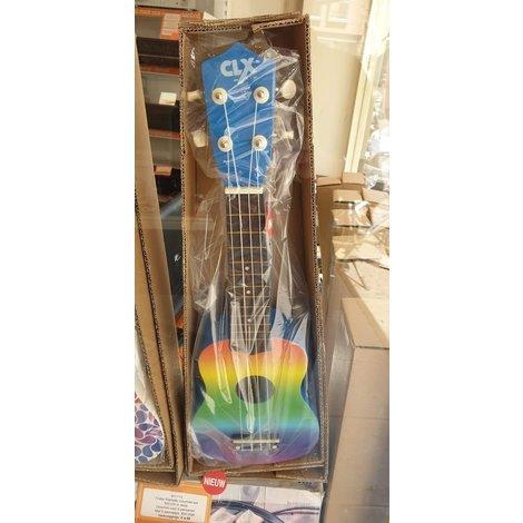 Calista 21 Houten Sopraan Ukelele Rainbow Air NIEUW in doos