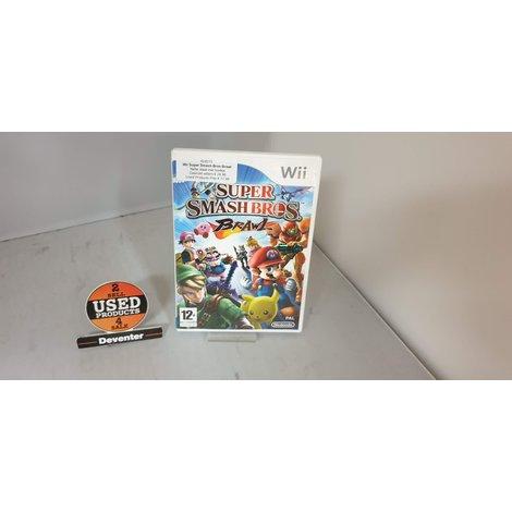 Wii Super Smash Bros Brawl Nette staat met boekje