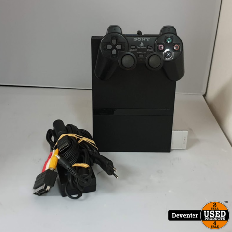 Sony Playstation 2 Slim met 1 controller, kabels en 8MB memory