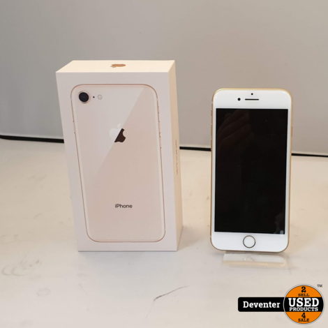 Apple iPhone 8 64GB Gold met doos en lader / Nieuwstaat