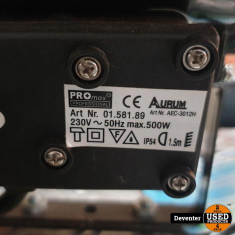Promax 500 watt bouwlamp met extra halogeenlamp
