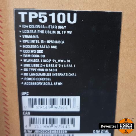 Asus Vivibook Flip TP510UA Touch met nog 5 maanden garantie