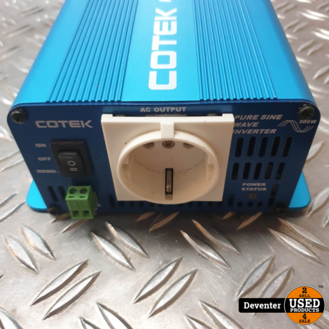 Cotek S300-212 12Volt sinus omvormer 300 W continu