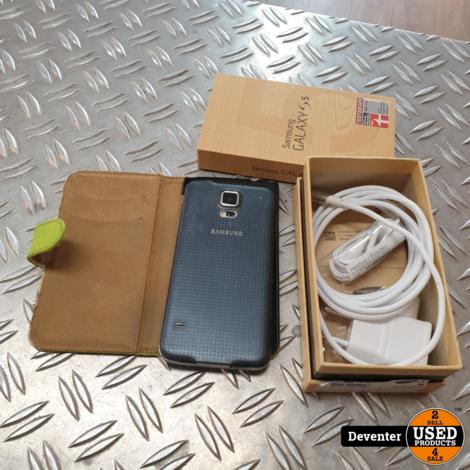 Samsung Galaxy S5 Zwart/16GB/ Net met doos, lader en hoes
