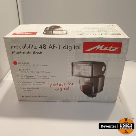 Metz Mecablitz 48 AF-1 Digital voor Canon NIEUW in doos