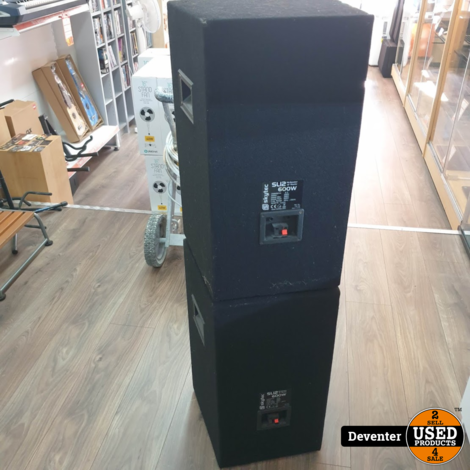 Skytec SL12 2-weg Disco speakers 600 watt Nette staat