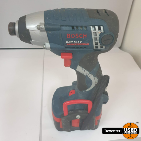 Bosch GDR14.4 Slagschroevendraaier II 2 accu's, lader, koffer