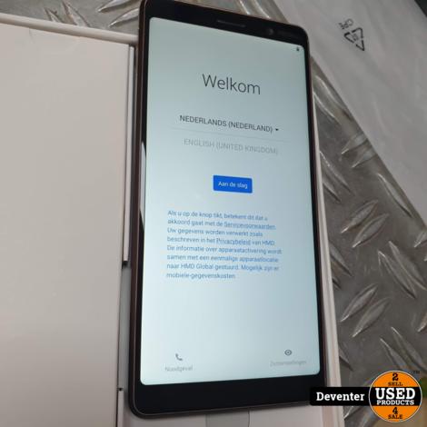 Nokia 7 Plus 64GB Dual Sim Black/Copper Nieuwstaat