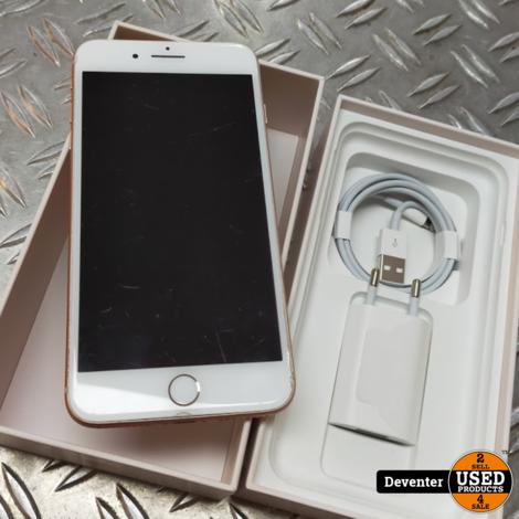 iPhone 8 Plus 256GB Gold met doos en nieuwe lader
