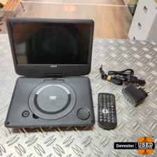 Akai ACT901 Portable DVD speler met accu en garantie