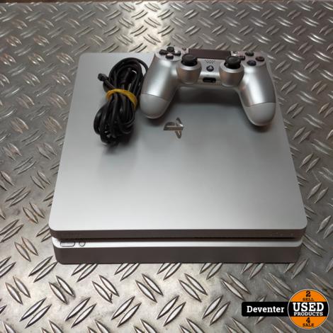 Sony Playstation 4 Slim 500GB Zilver met 1 controller