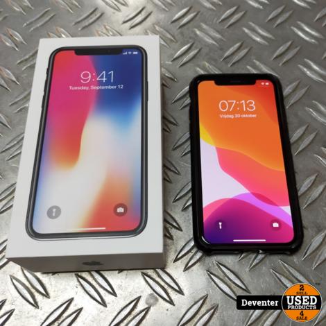 iPhone X 64GB Space Grey II Nette staat II Met garantie II